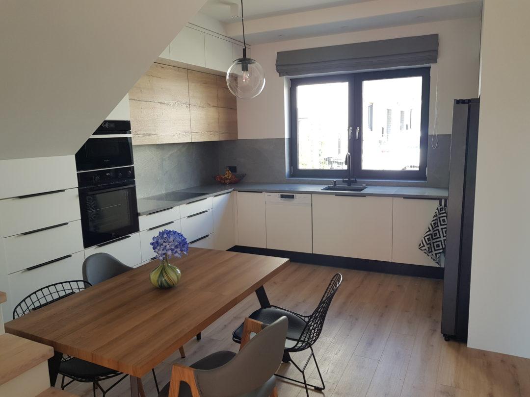 Meble kuchenne na wymiar, realizacja Szczecin Warszewo.